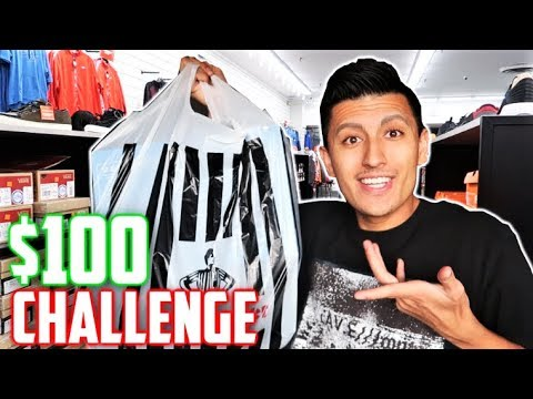 $100 Foot Locker OUTFIT CHALLENGE! OUTLET SHOPPING!