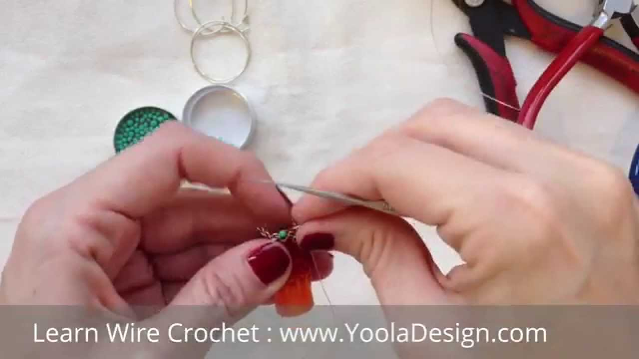 How to Wire Crochet with beads - YouTube