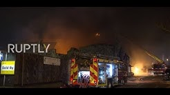 UK: Over 90 firefighters tackle 'large blaze' at London paint factory - LFB