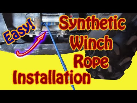 How to Replace a Winch Cable With AmSteel Synthetic Rope - DIY ATV Winch Plow Cable Replacement