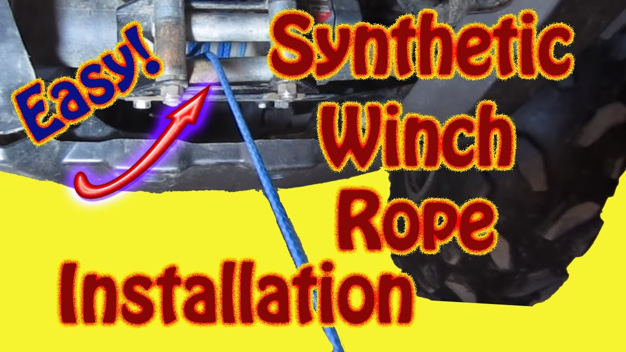 How To Replace A Winch Cable With Amsteel Synthetic Rope
