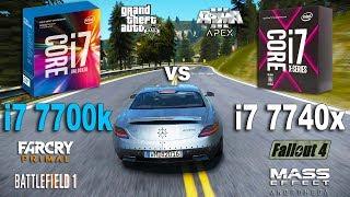 i7 7740x vs i7 7700k Test in 7 Games (GTX 1070)