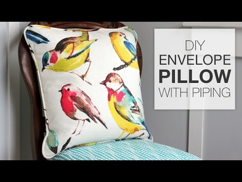 How To Make A Decorative Pillow With Piping : How to Sew an Envelope Pillow with Piping - YouTube