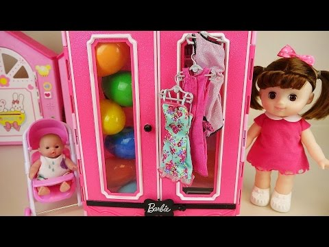 Baby doll Closet Surprise eggs and house toys play