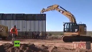 Trump publica imágenes de la construcción del muro en Nuevo México