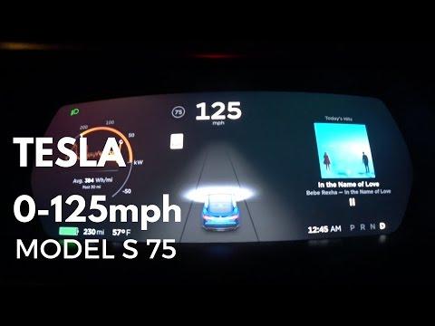 TESLA Model S 75 0-125mph acceleration