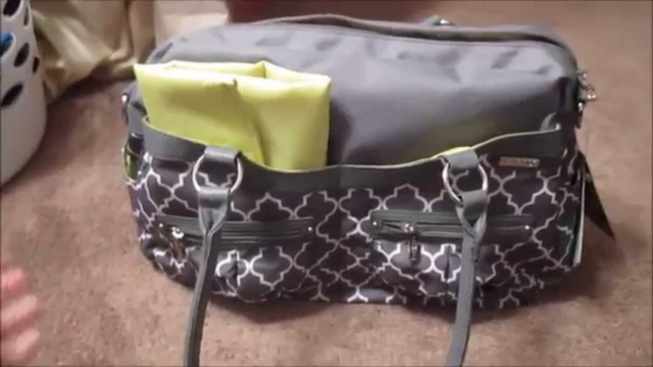 jj cole diaper bag review youtube. Black Bedroom Furniture Sets. Home Design Ideas
