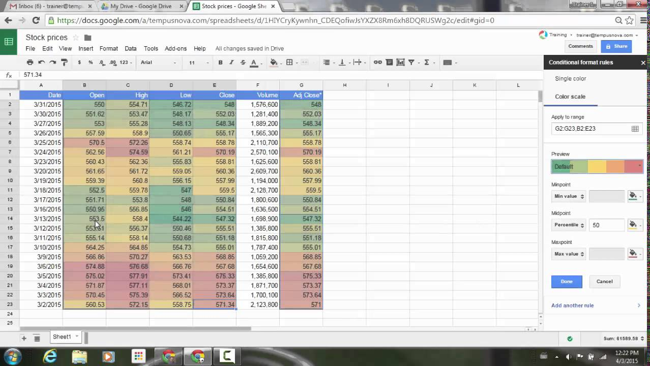 Conditional Formatting Improvements In Google Sheets YouTube - Google spreadsheet format