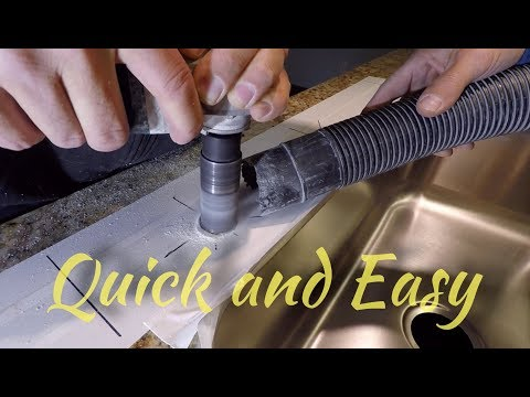 How to DRILL Holes in GRANITE Countertops (Quick and Easy)