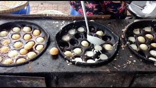 Fried Round Rice Flour Pancake Near Toul Kork Market In Phnom Penh Cambodia