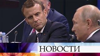 В центре второго дня ПМЭФ-2018 - пленарное заседание с участием президента РФ и иностранных лидеров.