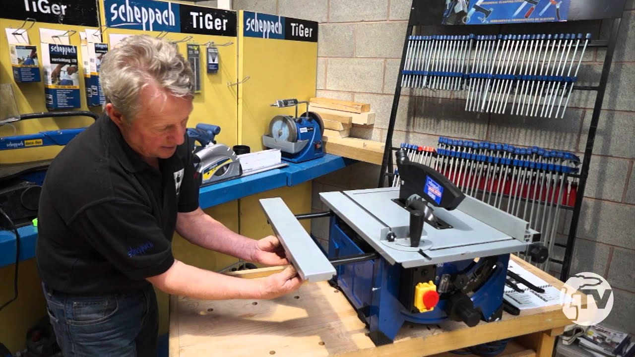 scheppach hs80 table top saw - a toolstop review - youtube