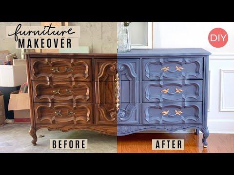 Thrifted Furniture Makeover DIY | Their Trash Someone Else's Treasure! | Ashleigh Lauren