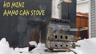 Best design for an ammo can stove?