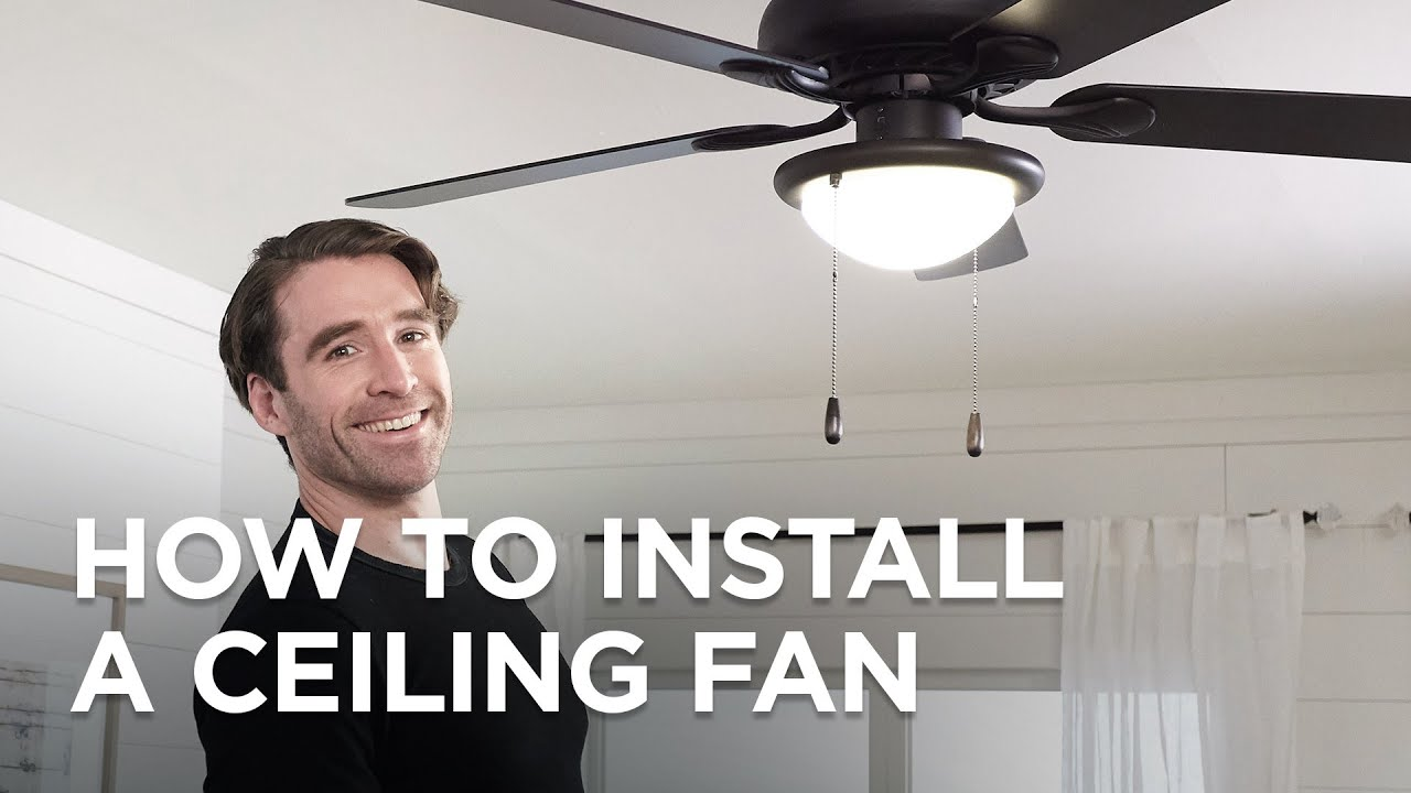 How To Install A Ceiling Fan Easy Worry Free Installation Tips From Lamps Plus Youtube