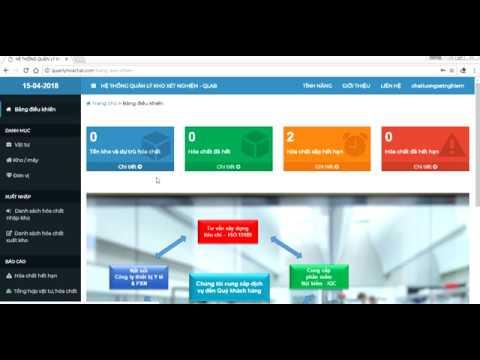 Phần mềm quản lý kho xét nghiệm – QLAB