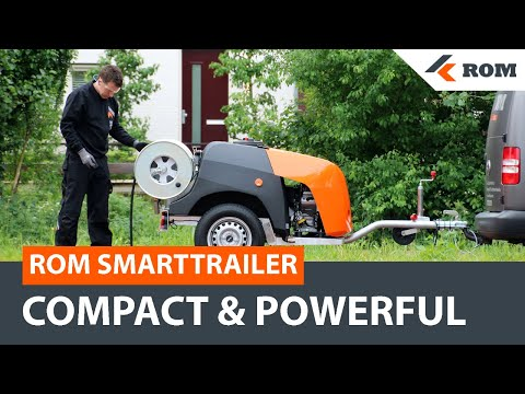 ROM SmartTrailer Sewer Cleaning Trailer | Sewer Jetter Drain Cleaner