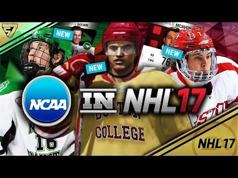 North Dakota, Boston College, Boston University Jerseys + Ratings | NCAA in NHL 17