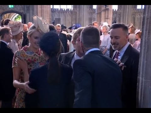 David Beckham And Elton John Kiss
