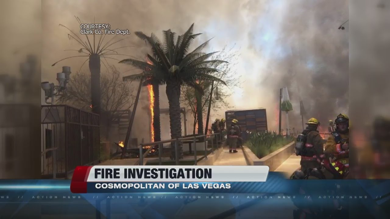 pool fire at the cosmopolitan fueled by fake foam palm trees youtube