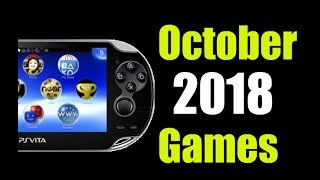 Upcoming New Playstation Vita Games - October 2018