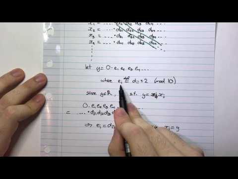 The Real Numbers are not listable/countable (Cantor's Diagonalisation Argument)