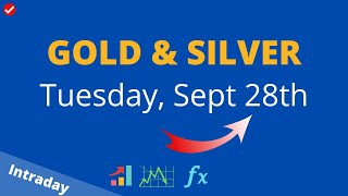 GOLD and Silver Intraday Analysis on Tuesday September 28, 2021 by Nina Fx