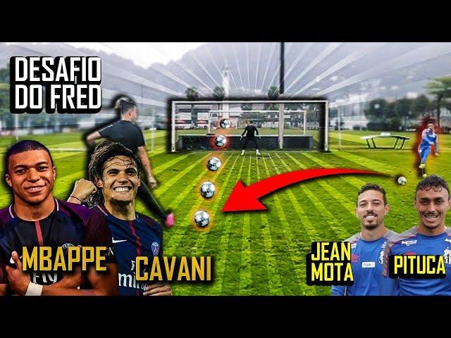 Desafio do Cavani e Mbappé com Jean Mota e Pituca