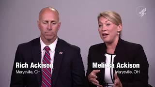 Melissa Ackison and Rich Ackison of Marysville, Ohio