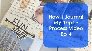 How I Journal My Trips Ep 4 Process Video | Midori Traveler