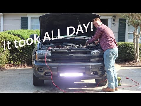 Vlog1 all day led lightbar installation on chevy trailblazer mozeypictures Images