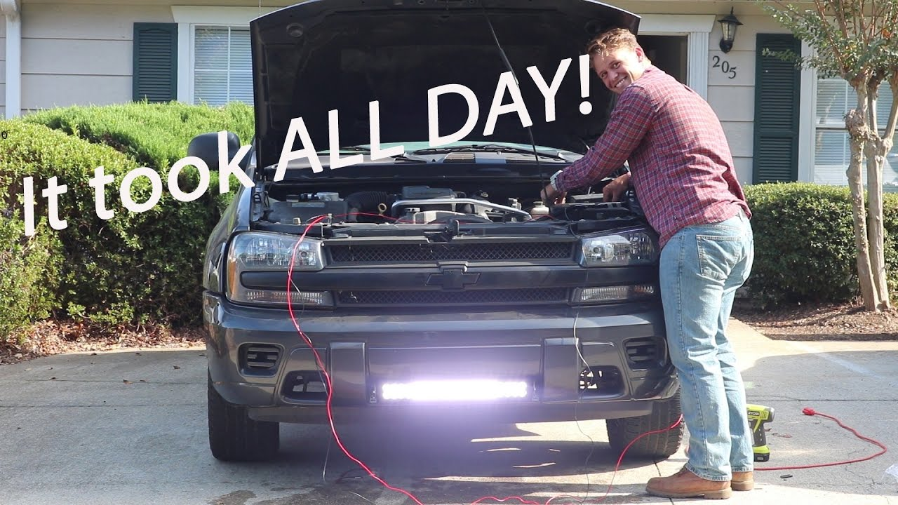 VLOG#1 - All Day LED Lightbar Installation on Chevy ...