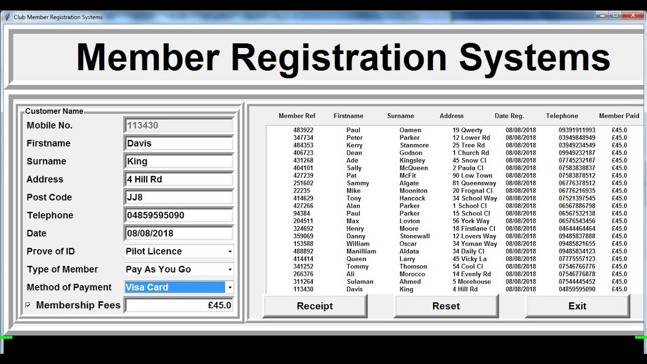 How to Create Registration Management Systems in Python - Part 1 of 2