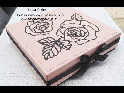 Reinforced Gift Box with Rose Garden Thinlits Die insert