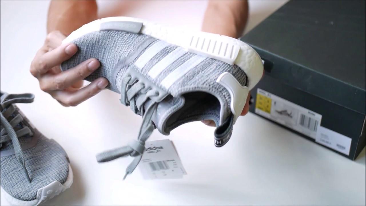 fd7cd196ca3fe Unboxing Adidas Original NMD R1 Glitch Solid Grey Camo - YouTube