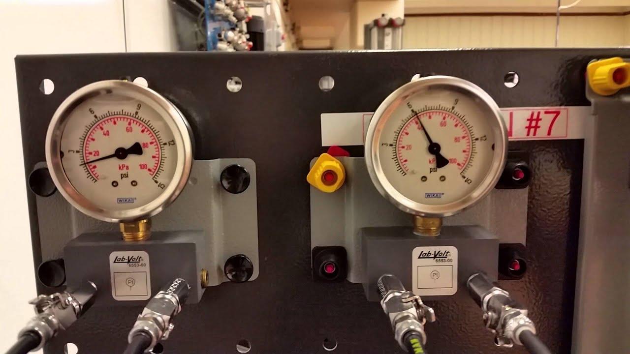 Instrumentation orifice plate flow meter lab a youtube