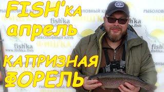 Рыбалка,Апрель, капризная  форель,первый выезд на платник,но я подобрал всё таки к ней ключик.