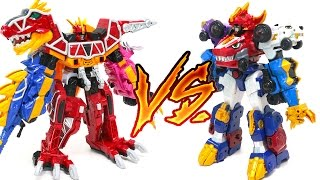 Dino Core Ultra Deverster VS Power Rangers Dino Charge Kyoryuger Tyranno King Transformers Car Toys