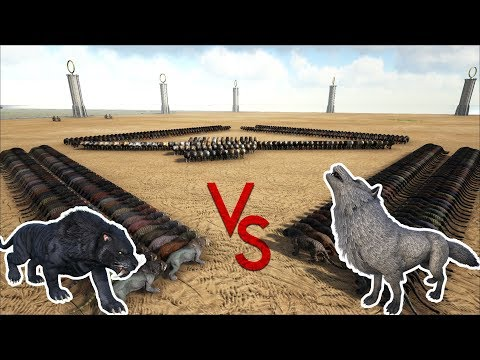 Sabertooth VS Direwolf || Ark Battle