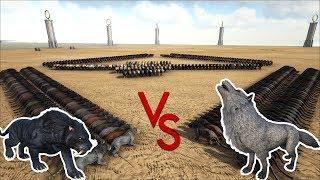 Baixar Sabertooth VS Direwolf || Ark Battle