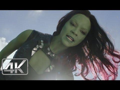 Star Lord Vs Gamora Primer Encuentro LATINO 4k (Ultra-HD) Guardianes de la Galaxia (2014)