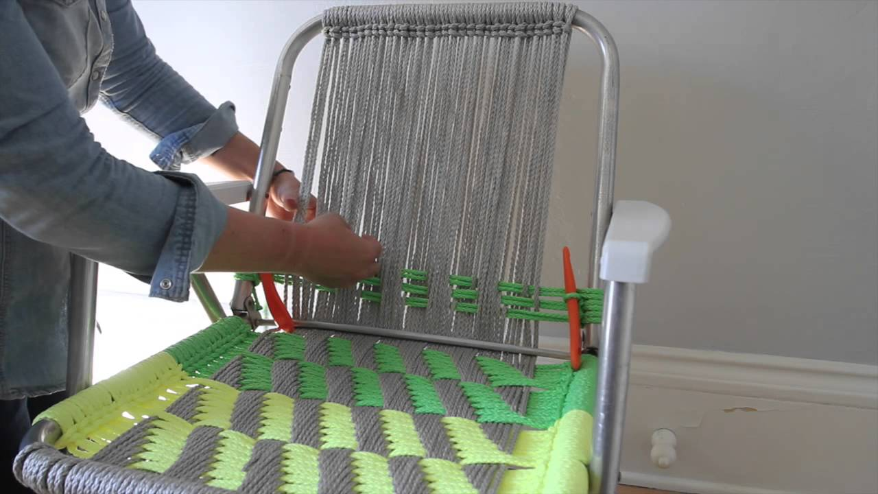 Woven Macram 233 Chair Tutorial Part 2 Youtube