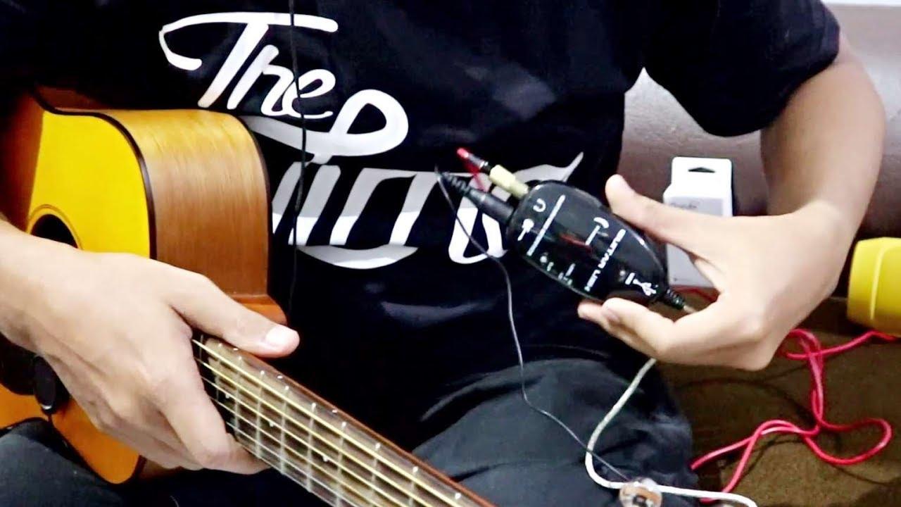 GuitarLink & Gitar Akustik + Pickup (Efek Deplike di Android)