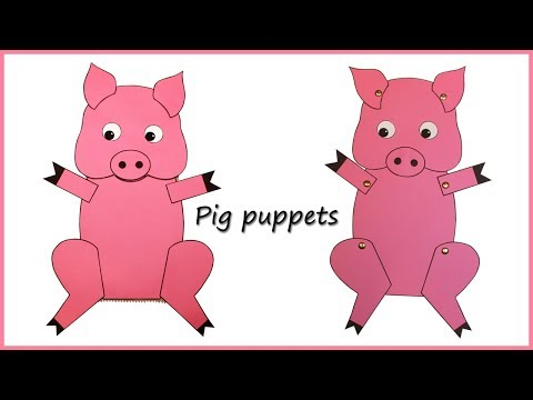 How to make Paper Pig Puppets