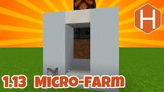 wheat potato carrot beat root micro-farm updated for 1.13 Minecraft Tutorial