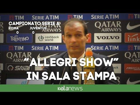 """Roma-Juve, lo show di Allegri: """"Ho giocato il cavallo Minnesota vincente..."""""""