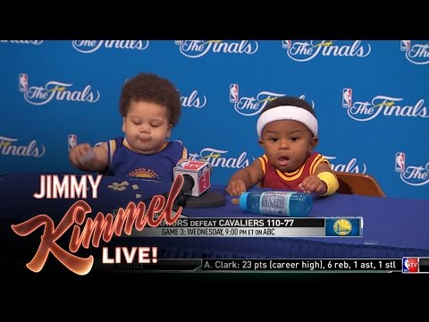 Thumbnail: Press Conference With Baby Steph Curry and Baby LeBron