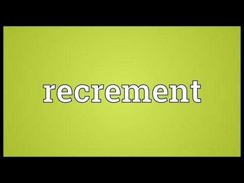 Header of recrement