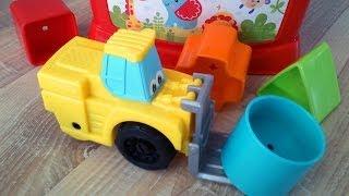 Развивающий мультфильм: игрушечные машинки и сортер. Фигуры и цифры