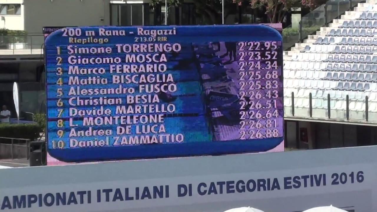 05-08-2016 mat. 200 Rana M Elenco Finale A Campionato Italiano di ...